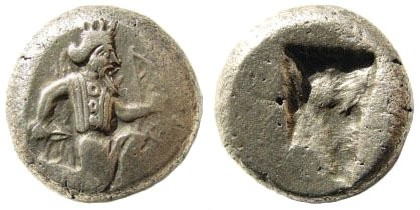 Ancient Coins - Achaemenid Kings. Circa 375-340 BC. AR Siglos (5.46 gm, 15mm). Carradice, Taf. XV, 46