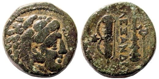 Ancient Coins - Macedonian Kings, Alexander III, The Great. 336-323 BC. AE 15 (5.71 gm). Tarsus mint. Price 3061