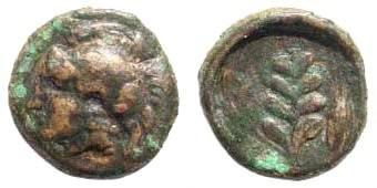 Ancient Coins - Aiolis, Elaia. 4th century BC. AE 9mm (0.58 gm). BMC 5 (Pl. xxV 5)