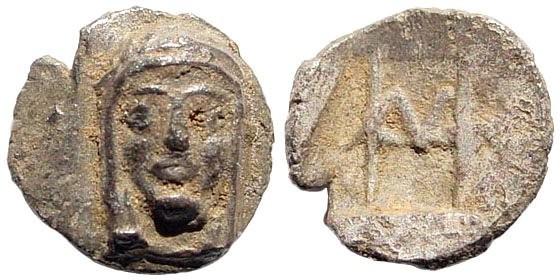 Ancient Coins - Ionia, Kolophon. 6th century BC. AR Hemiobol (0.46 gm, 9mm). SNG von Aulock 7898; Klein 357