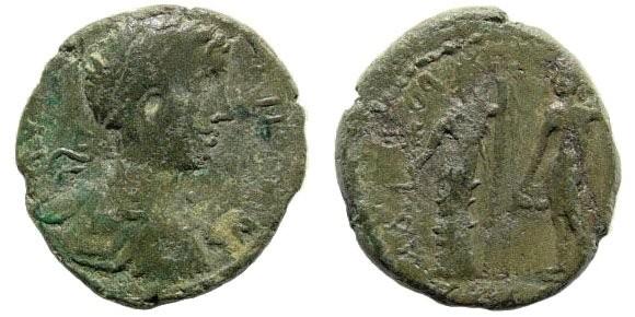 Ancient Coins - Cilicia, Seleucia ad Calycadnum. Geta, as Caesar. 198-209 AD. AE 21mm (5.62 gm). Apparently unpublished