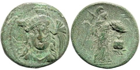 Ancient Coins - Pamphylia, Side. 1st century BC. AE 18mm (3.97 gm). SNG PFPS 3, 755