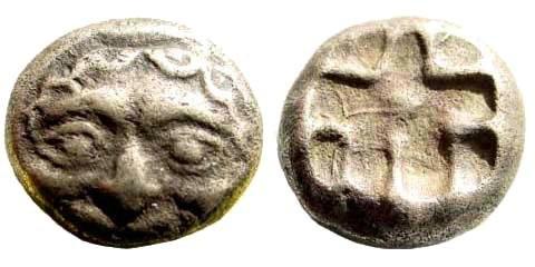 Ancient Coins - Mysia, Parion. Circa 480 BC. AR Drachm (3.10 gm). Sear 39217, SNG Copenhagen 256