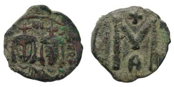 Ancient Coins - Michael II, 820-829 AD, AE Follis (19.05 gm, 2.29 mm). Syracuse mint. Sear 1652; DO 21