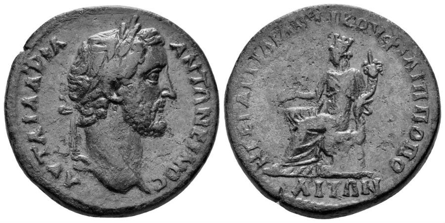 Ancient Coins - Thrace, Philippopolis. Antoninus Pius. 138-161 AD. AE 30mm (19.54 gm). Varbanov 687