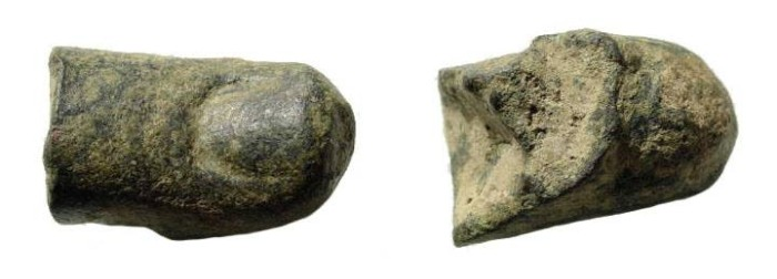 Ancient Coins - Roman bronze thumb, 1st – 3rd century AD. fragment of live-size-statue. 35 mm