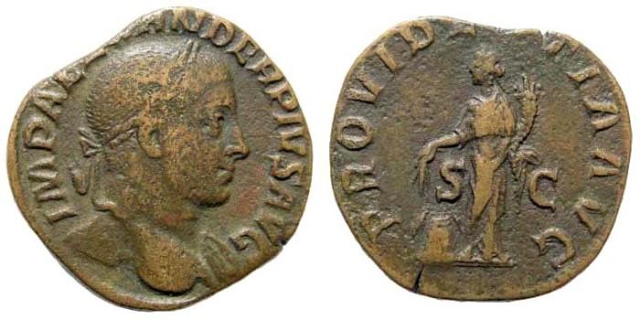 Ancient Coins - Severus Alexander, 222-235 AD. AE Sestertius (17.70 gm, 28mm). Rome 232 AD. RIC IV 642; Cohen 503