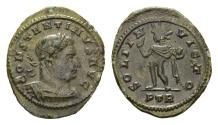 Ancient Coins - Constantine I. 307-337 AD. AE Half Follis (2.14 gm, 20mm). Treveri (Trier) mint. Struck 310-311 AD. RIC VI 899