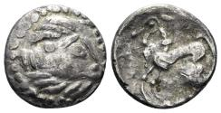 Ancient Coins - Eastern Europe. Imitations of Philip II of Macedon, 2nd-1st centuries BC. AR Drachm (2.04 gm, 14mm). Kapostaler type. Lanz 822-3