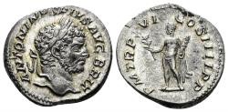 Ancient Coins - Caracalla. 198-217 AD. AR Denarius (3.14 gm, 18.5mm). Rome mint. Struck 213 AD. RIC 206(b)