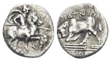 Ancient Coins - Ionia, Magnesia ad Maeandrum. Circa 350-325 BC. AR Hemidrachm (1.43 gm, 13 mm). Simon, magistrate. CNG E-335, lot 187