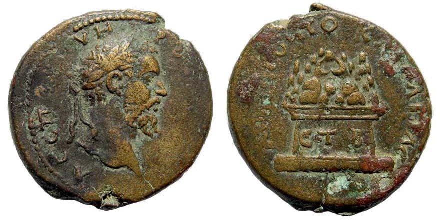 Ancient Coins - Cappadocia. Caesarea. Septimius Severus, 193-211 AD. AE 29mm (14.29 gm). Dated RY 2 (193/4 AD). Sydenham 412