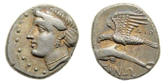 Ancient Coins - Paphlagonia, Sinope. Circa 330-300 BC. AR Drachm (4.94 gm, 17mm). SNG BM Black Sea 1484; SNG von Aulock -; SNG Stancomb 772