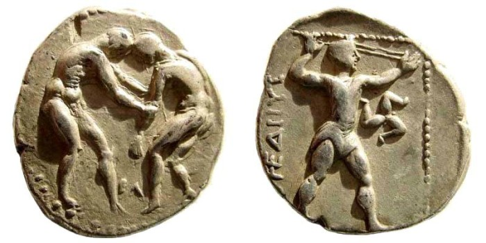 Ancient Coins - Pamphylia, Aspendos. Circa 400-370 BC. AR Stater (10.60 gm, 24mm). SNG von Aulock -; SNG France -