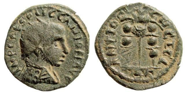 Ancient Coins - Pisidia, Antioch. Gallienus. 253-268 AD. AE 23 (5.01gm). SNG France 1333 (same obverse die)