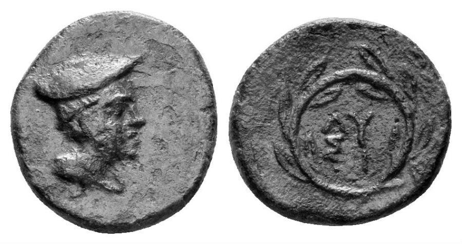 Ancient Coins - Thrace, Lysimacheia. Circa 225-199/8 BC. AE 11 (1.09 gm). SNG Copenhagen 922; HGC 3.2, 1505. Rare