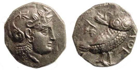 Ancient Coins - Bactrian Kingdom, Sophytes, circa 305-294 BC, AR Didrachm, local standard (18 mm, 7.60 gm.). SNG ANS 4, very fine