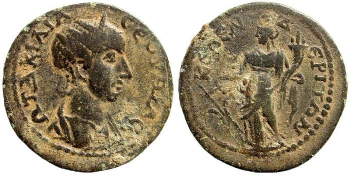 Ancient Coins - Kilikia, Kelenderis. Otacilia Severa, wife of Philip I, 244-249 AD. AE 27mm (7.15 gm). SNG von Aulock 5652