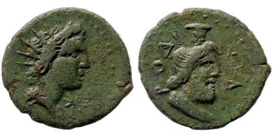 Ancient Coins - Caria, Islands off, Rhodes, Imperial Times, AE 19 mm (2.84 gm.). SNG Copenhagen 907