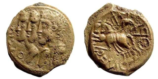 Ancient Coins - Gallia Belgica, Remi. Circa 1st century BC. AE 16mm (3.20 gm). Scheers 519; De la Tour 8040; BMC 57