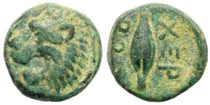 Ancient Coins - Thracian Chersonese. Circa 350-309 BC. AE 11mm (1.44 gm). SNG Copenhagen 845
