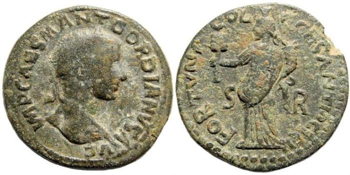Ancient Coins - Pisidia, Antiochia, Gordian III, AE 28mm (13.55 gm). Cf. SNG France 3, 1246 (same obverse die)