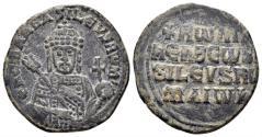 Ancient Coins - Constantine VII, Porphyrogenitus and Romanus I, 920-944. AE Follis (7.03 gm, 25mm). Constantinople mint. SB 1760
