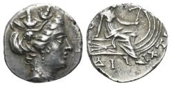 Ancient Coins - Euboia, Histiaia, 3rd-2nd centuries BC. AR Tetrobol (2.05 gm, 18mm). SNG Copenhagen 533
