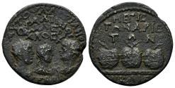 Ancient Coins - Bithynia, Nikaia. Valerian, Gallienus und Valerian II, 255 - 258 AD. AE 24mm (7.33 gm). Rec. gen. 824b