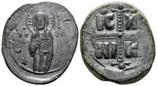 Ancient Coins - Anonymous Folles. Time of Michael IV, circa 1034-1041. AE Follis (10.00 gm, 33mm). Class C. Constantinople mint. SB 1825