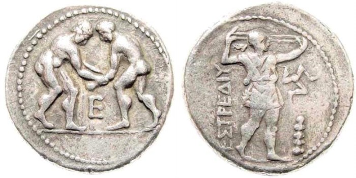 Ancient Coins - Pamphylia, Aspendos. Circa 330/25-300/250 BC. AR Stater (10.26 gm, 24mm). SNG Copenhagen 239