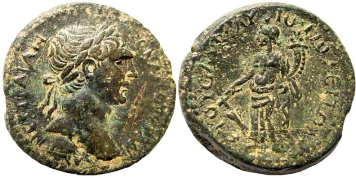 Ancient Coins - Kilikia, Flaviopolis. Traian, 98-117 AD. AE 22mm (9.33 gm). Dated year 40 Era of the City 112/3 AD. SNG Levante 1534. SNG Copenhagen 137. Ex Karbach collection