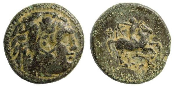 Ancient Coins - Macedonian Kings, Philip III 323-317 BC. AE 20mm (5.99 gm). SNG München 979