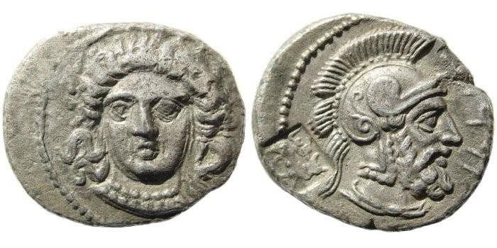 Ancient Coins - Cilicia, Tarsos. Datames, Satrap of Cilicia and Cappadocia. 384-361/0 BC. AR Stater (10.24 gm, 23mm). Struck circa 373/2-369/8 BC. SNG Levante 78
