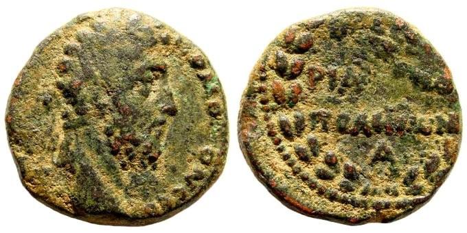 Ancient Coins - Syria, Kyrrhestika. Hieropolis. Commodus, 180-192 AD. AE 21mm (7.51 gm). SNG München 476