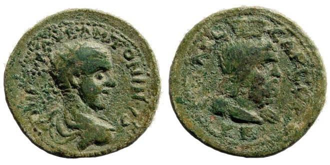 Ancient Coins - Judaea, Aelia Capitolina. Elagabalus 222-235 AD. AE 25 mm (7.07 gm). SNG Palestine-; BMC-; SNG Copenhagen-; Lindgren/ Kovacs-; Lindgren III-; Sear-