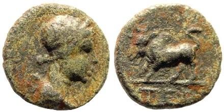 Ancient Coins - Pisidia, Termessos. 1st century BC. AE 14mm (2.13 gm). BMC 268, 1; SNG BN Paris 2102