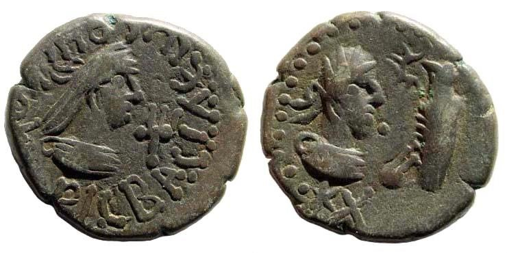 Ancient Coins - Bosporian Kingdom. Rhescuporis V. 304-342 AD. AE Stater (7.69 gm, 21mm). Dated BE 620 (323/4 AD). S. 5505