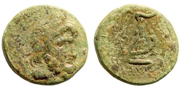Ancient Coins - Phoenicia, Sidon. Dated year 102, 10/9 BC. AE 20mm (6.13 gm). RPC I, 4600