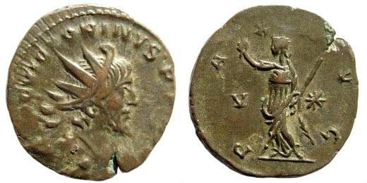 Ancient Coins - Victorinus. 269 - 271 AD. AE Antoninianus (2.70 gm, 20 mm). Colonia Mint. Cunetio 2544