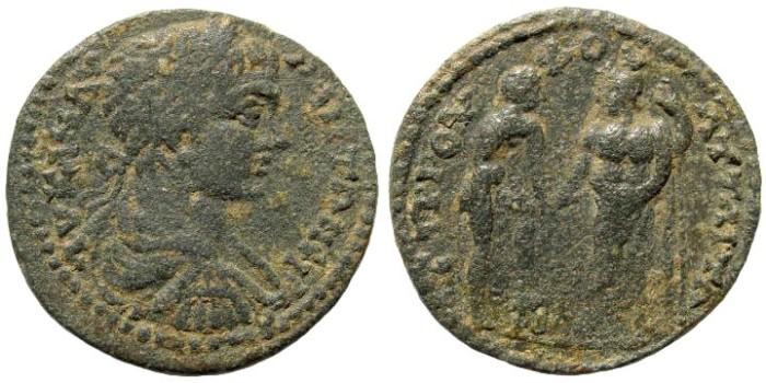 Ancient Coins - Mysia, Attaia. Caracalla. 198-217 AD. AE 27mm (13.99 gm). SNG France 5, 155