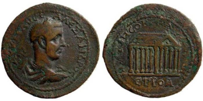 Ancient Coins - Pontus, Neocaesarea, Alexander Severus, 222-235 AD, AE 32.93 mm (18.72 gm.). 234-235 AD. Unpublished (?)