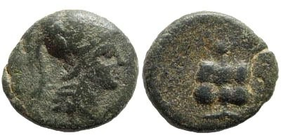 Ancient Coins - Pamphylia, Side. 1st century BC. AE 13mm (1.68 gm). SNG PFPS 482; SNG France 3, 771