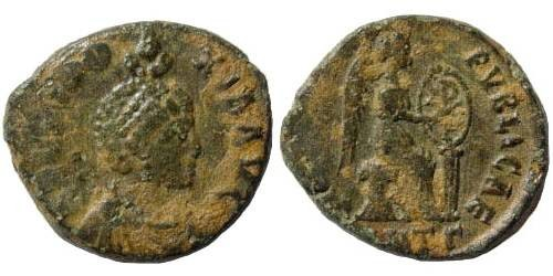 Ancient Coins - Aelia Eudoxia, wife of Arcadius. AE 18 mm (3.07 gm). Struck 401-403 AD. Antioch mint. LRBC 2800