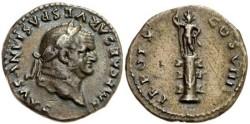 Ancient Coins - VESPASIAN - denarius 70AD - Statue on column