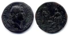 Ancient Coins - Hadrian - sestertius ADVENTVI AVG ITALIAE - 136 AD