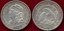 Us Coins - 1830 BUST 1/2 DIME  XF45