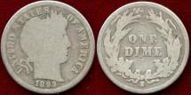 Us Coins - 1893-S BARBER 10c  GOOD