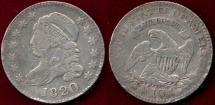 Us Coins - 1820 BUST 10c FINE