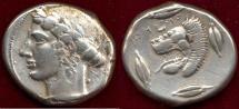 Ancient Coins - SICILY/LEONTINOI    466-425 BC    TETRADRACHM